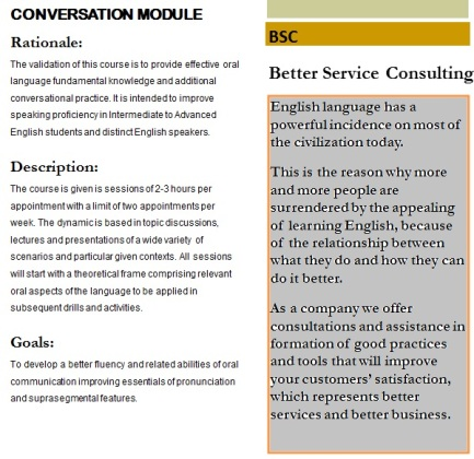 Conversation Private Classes